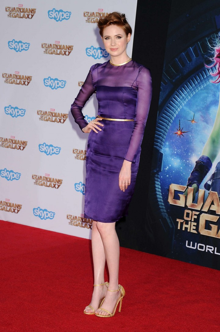 Karen Gillan - Premiere Of Marvel's 'Guardians Of The Galaxy' in Hollywood