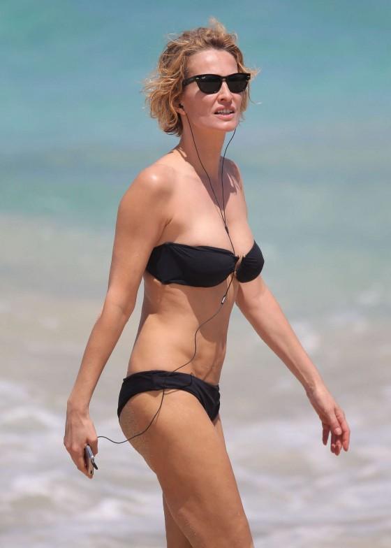 Karen Mulder 2013 : Karen Mulder – bikini candids in St Barts -01