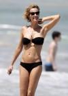 Karen Mulder - bikini candids in St Barts -06