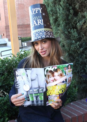 Karina Smirnoff - Celebrates New Year's with UsWeekly Magazine