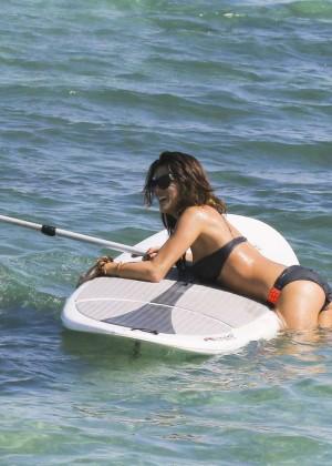 Karine Ferri Bikini Photos: 2014 Saint Barth Beach -02