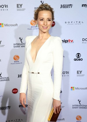 Karine Vanasse - 2014 International Academy Of Television Arts & Sciences Emmy Awards in NYC