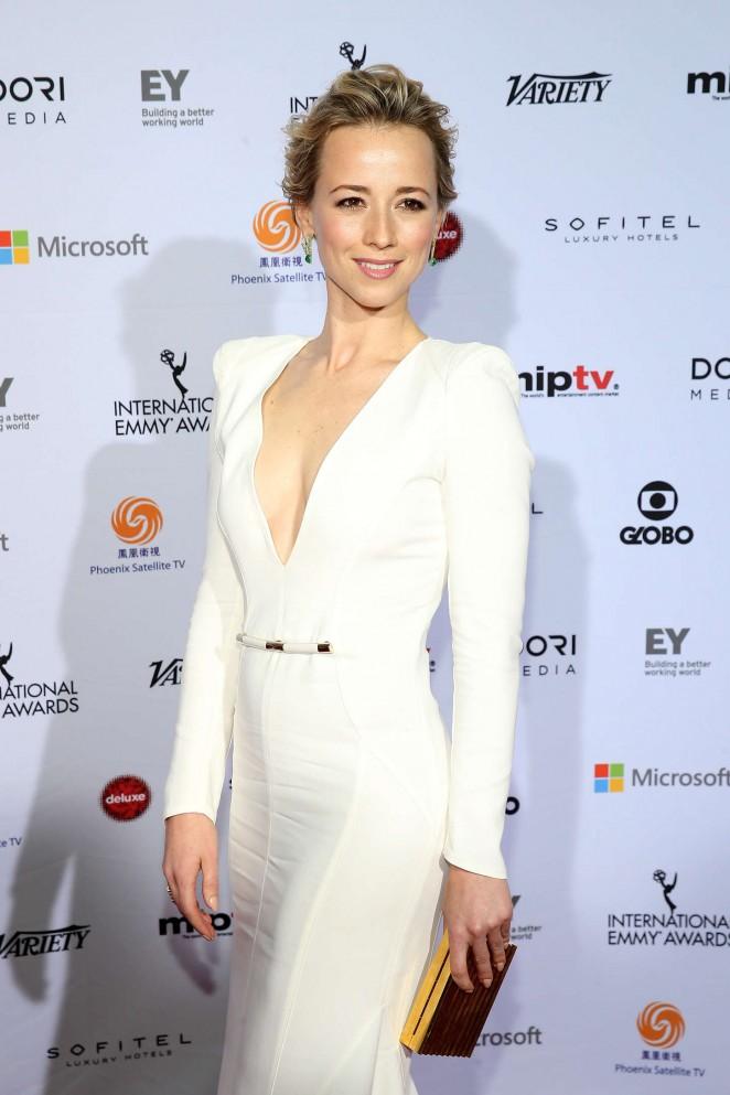 Karine Vanasse - 2014 International Academy Of Television Arts & Sciences Emmy Awards in NYC