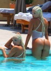 Karissa and Kristina Shannon Bikini by the pool-01