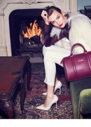 Karlie Kloss: Lancaster Paris Holiday 2014 Campaign -04
