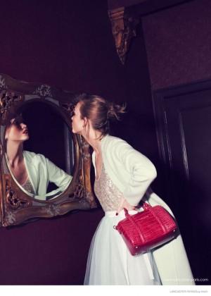 Karlie Kloss: Lancaster Paris Holiday 2014 Campaign -09