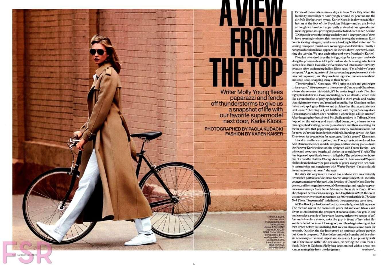 Karlie kloss lucky magazine october 2017