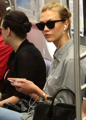 Karlie Kloss - Rides the Subway in NYC