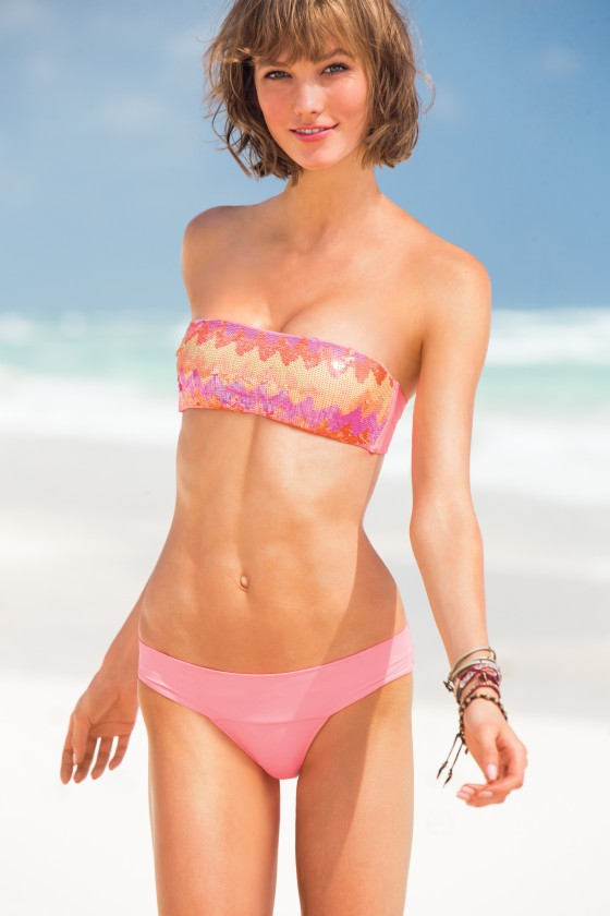 Karlie Kloss in Bikini for VS 2013 -03