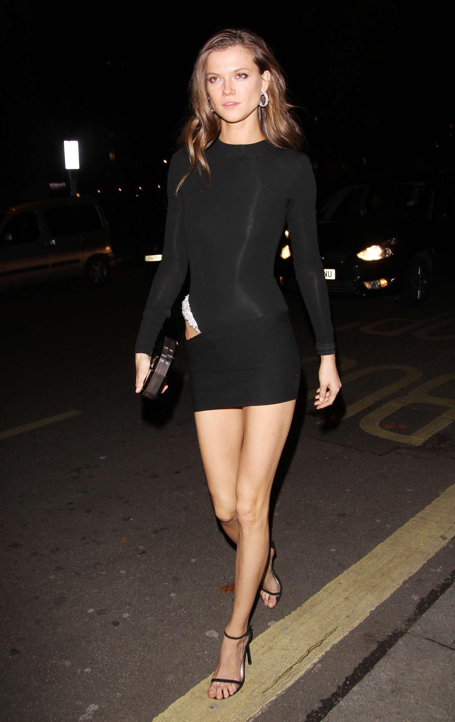 Kasia Struss In Black Mini Dress 01 Gotceleb