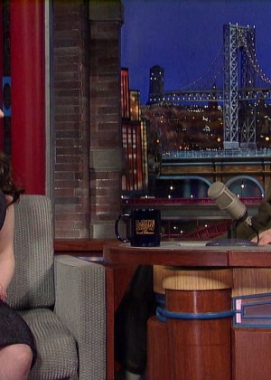 Kat Dennings at 2014 The Late Show with David Letterman -01