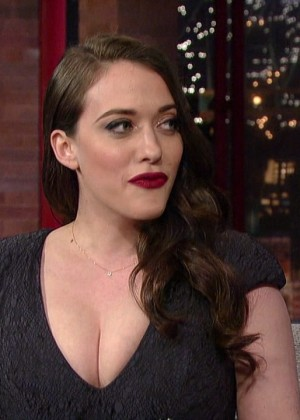 Kat Dennings at 2014 The Late Show with David Letterman -02
