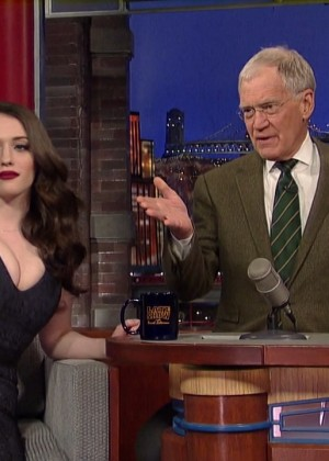 Kat Dennings at 2014 The Late Show with David Letterman -03