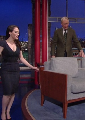 Kat Dennings at 2014 The Late Show with David Letterman -04