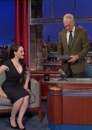 Kat Dennings at 2014 The Late Show with David Letterman -06