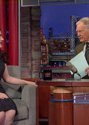Kat Dennings at 2014 The Late Show with David Letterman -07
