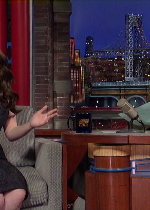 Kat Dennings at 2014 The Late Show with David Letterman -09