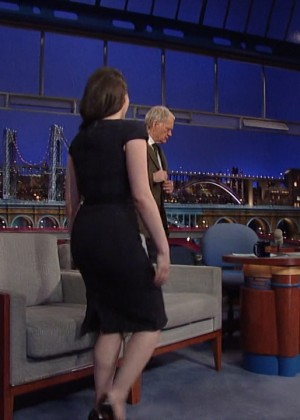 Kat Dennings at 2014 The Late Show with David Letterman -10