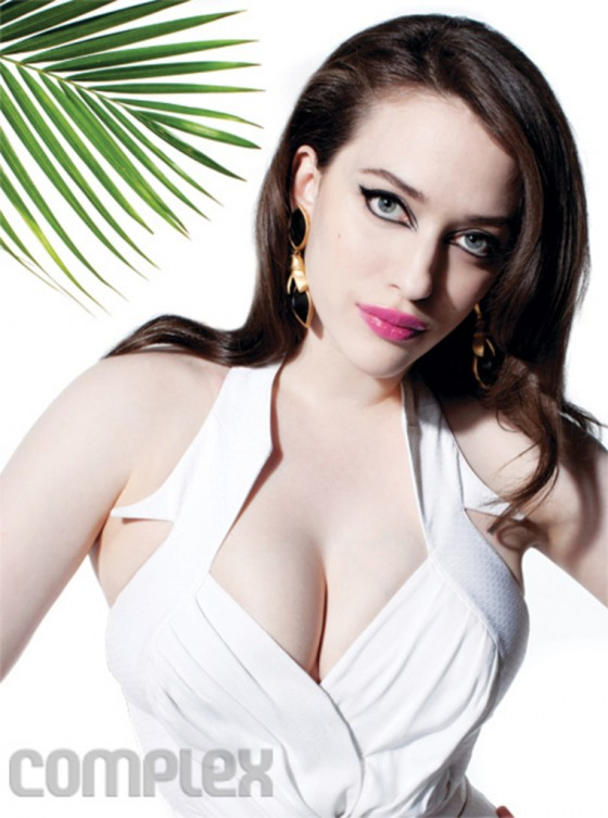 Kat Dennings unleashes her superhero like cleavage