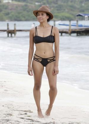 Kat Graham hot bikini photo: Jamaica 2014 -02