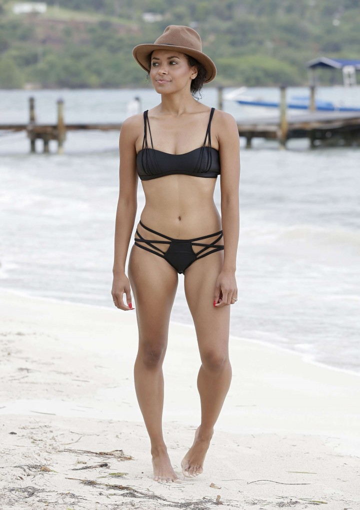 Kat Graham hot bikini photo: Jamaica 2014 -02
