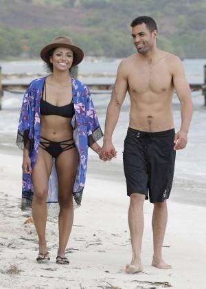 Kat Graham hot bikini photo: Jamaica 2014 -04