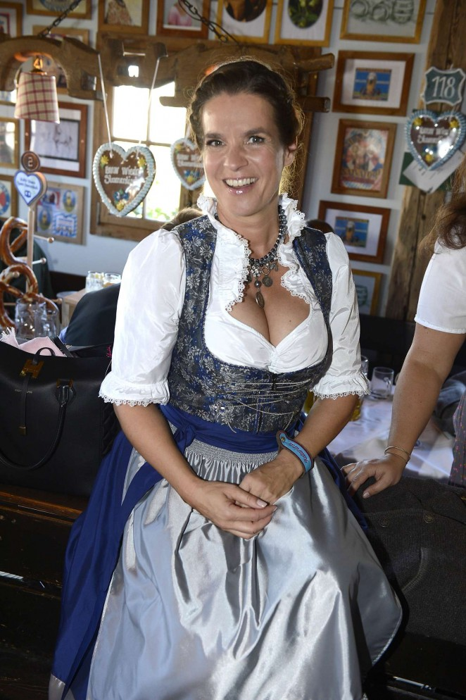 Katarina Witt visits the Oktoberfest in Munich