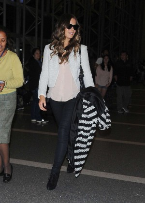 Kate Beckinsale - booty in jeans at LAX Airport in LA