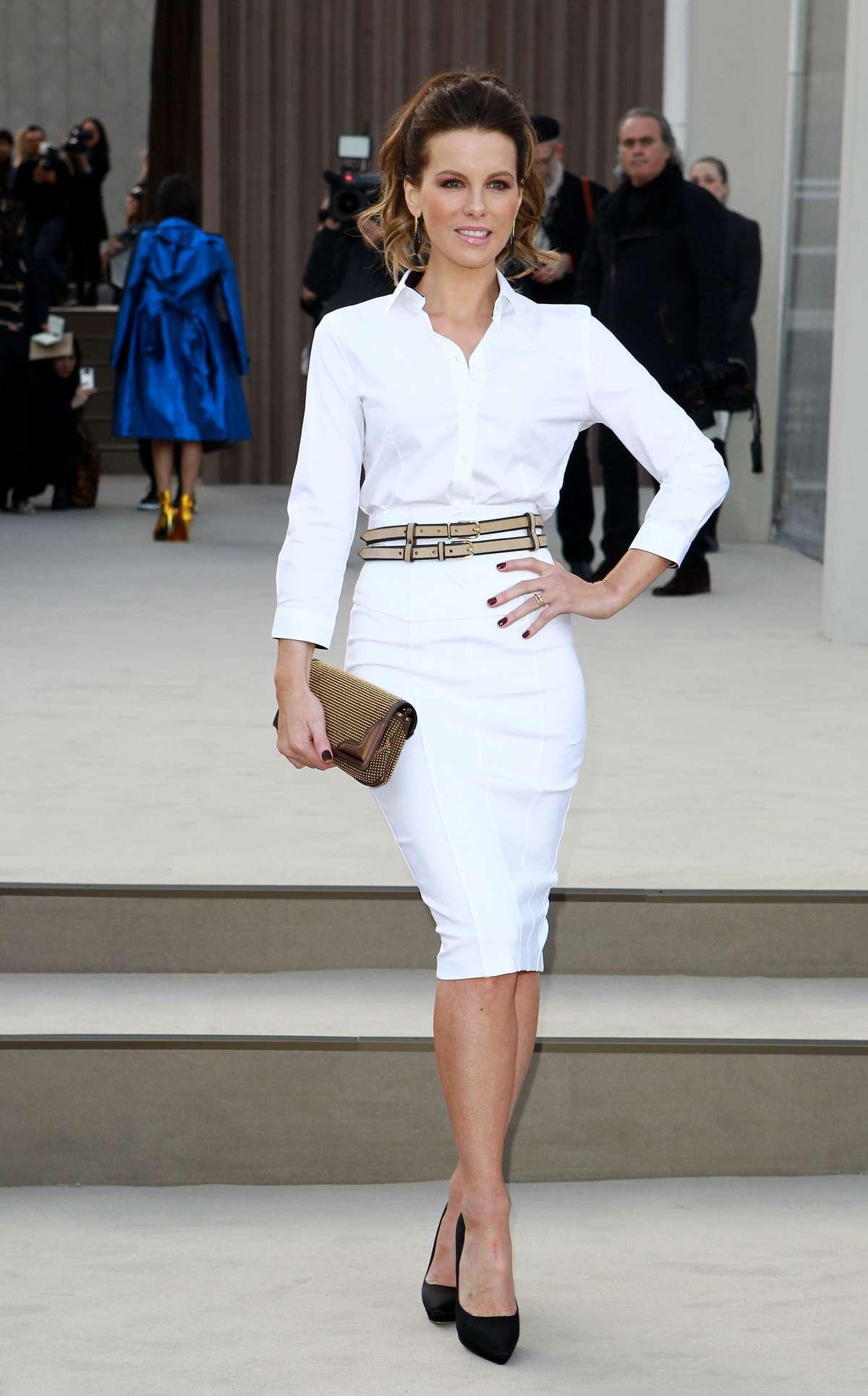 Kate Beckinsale 2013 : Kate Beckinsale In White Tight Skirt -17