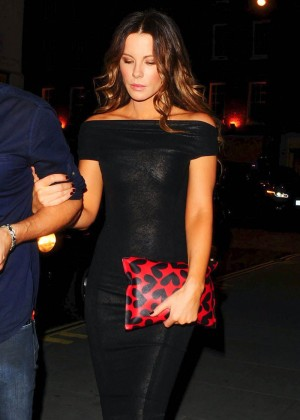 Kate Beckinsale on her way to dinner at Chiltern Firehouse in London