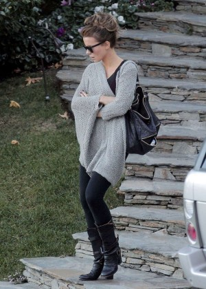 Kate Beckinsale in Tights Out in Los Angeles