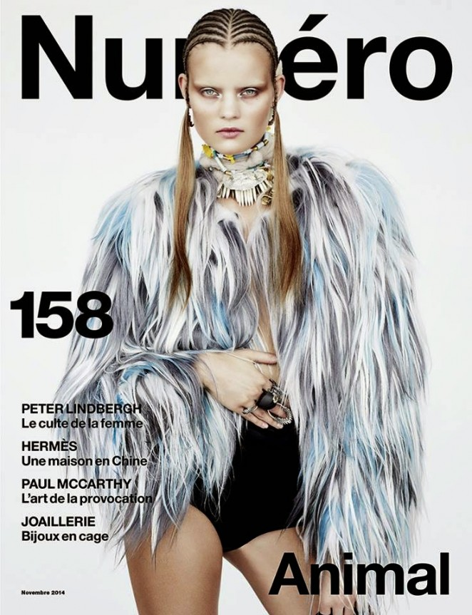 Kate Grigorieva - Numero #158 Magazine Cover (November 2014)