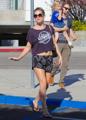 Kate Hudson in Shorts out in Santa Monica