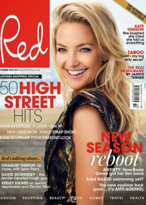 Kate Hudson - Red Magazine Cover (October 2014)