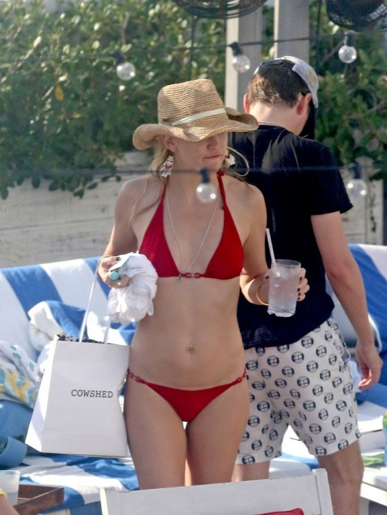 in red bikini Hudson