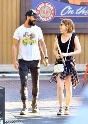Kate Mara With Boyfriend at Disneyland in Anaheim