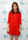 Kate Mara - In red dress at 10 Years brunch reunion event in New York