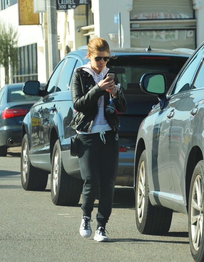 Kate Mara in Sweats Out in West Hollywood