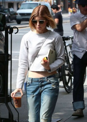 Kate Mara in Jeans out in NYC