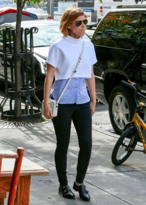 Kate Mara in Tight Pants out in NYC