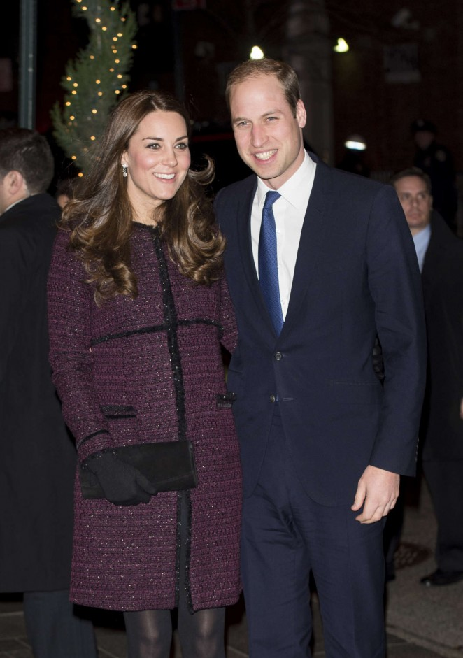 Kate Middleton and Prince William arrive at The Carlyle Hotel in New York