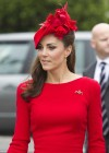 Kate Middleton hot in red at 2012 Queens Diamond Jubilee River Pageant Flotilla in London
