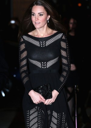 Kate Middleton in Black Dress at the Action on Addiction Gala in London