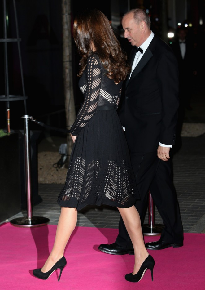Kate Middleton In Black Dress At The Action On Addiction Gala 22