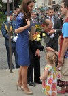 Kate Middleton in Blue Dress at Freedom of the City Ceremony in Quebec-02