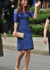 Kate Middleton in Blue Dress at Freedom of the City Ceremony in Quebec-07