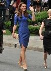 Kate Middleton in Blue Dress at Freedom of the City Ceremony in Quebec-12