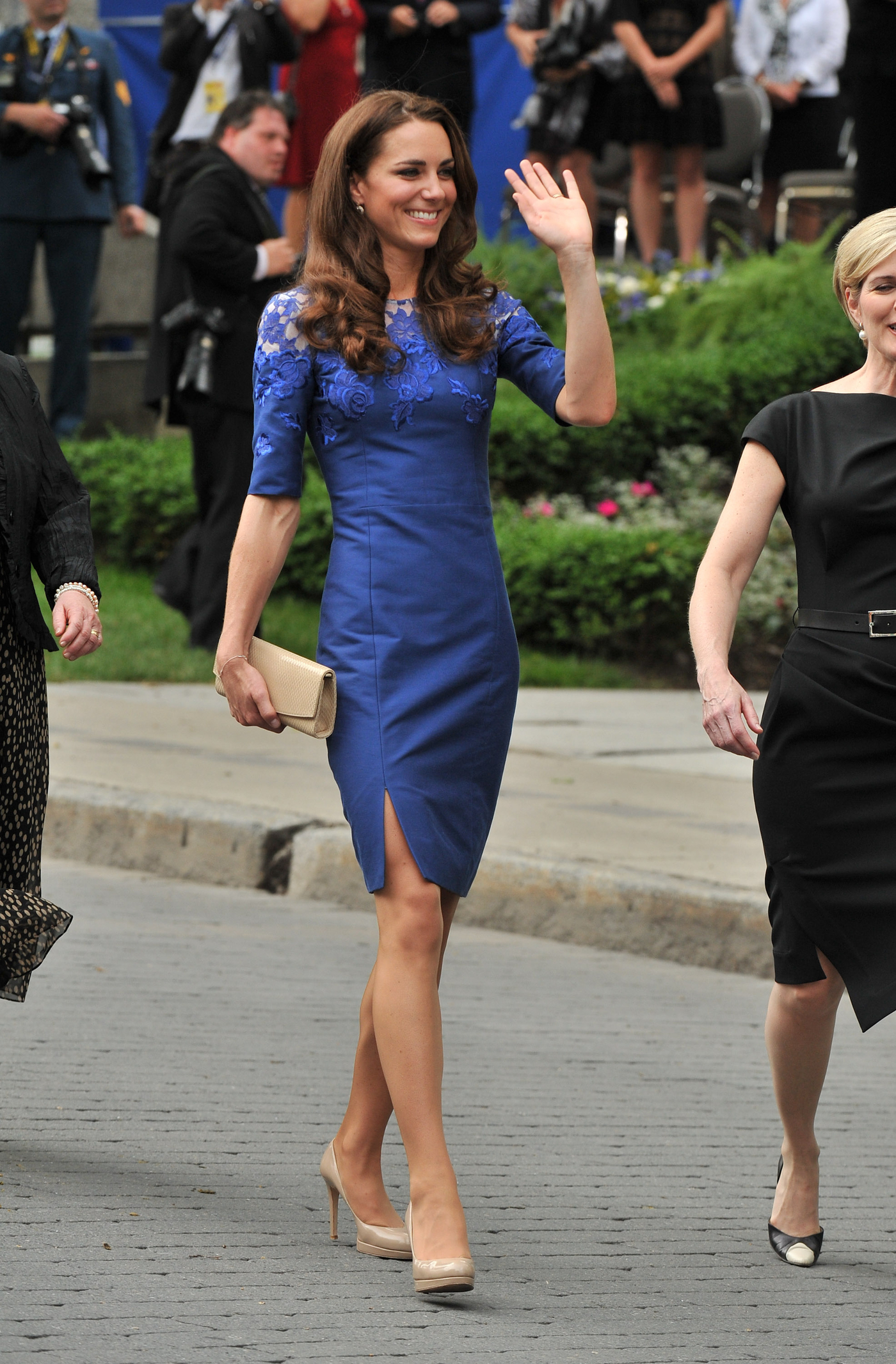 Kate Middleton In Blue Dress At Freedom Of The City