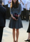 Kate Middletonn in cute dress visits Dulwich Picture Gallery-29