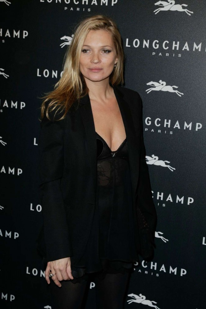 Kate Moss - Longchamp Elysees Light On Party Photocall in Paris